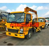 China 4x2 HOWO Cargo Transport Truck Chassis Truck Mounted Crane 120 - 140hp Power on sale