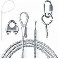 Buy cheap Galvanized Wire Rope Assemblies Zip Ties TurnBuckles Wire Crimp Screw Hooks from wholesalers