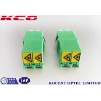 Low Insertion Loss Fiber Optic Adapter Green LC/APC Shutter Duplex PC Material Manufactures