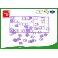 Purple hook and loop hook and loop dots , Lovely conenient alphabet letters for teaching Manufactures