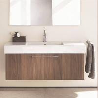 Hotel Customized Drawers Wood Grain Bathroom Vanity Units With Sink / Tap Manufactures
