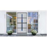 Grey Tempered Glass Aluminium Sliding Security Doors Customized Shape Manufactures