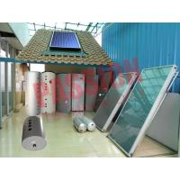 High Performance Split Solar Water Heater Flat Plate Blue Titanium Coating  Manufactures