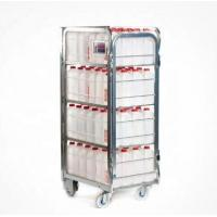Quality Supermarket Steel Milk Roll Cage Container Four Layers With Movable Shelf for sale