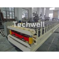 Wall Cladding Roof Roll Forming Machine , Metal Forming Equipment Yield Strength 250-350Mpa Manufactures
