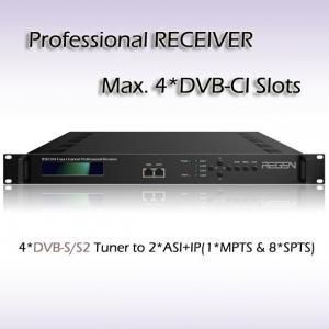 IPTV System Headend DVB-S2 Receiver with 4*DVB-CI Slots RSR1104 Manufactures