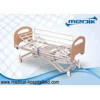 China Enameled Steel Structure Nursing Home Beds With Collapsible Side Rails on sale
