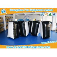 0.6mm PVC Tarpaulin Black And White Inflatable Blocker For Funny Sport Games Manufactures