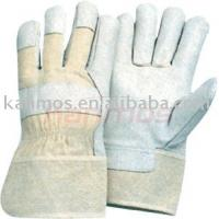 China index finger flame resistant industry working man grain pig leather gloves / Glove on sale