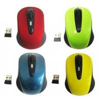 Customized Colorful Plug & Play 2.4G Wireless Mouse / Small Laptop Mous With 10m Range Manufactures