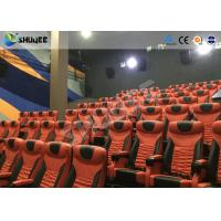 Large Mobile 4D Movie Theater Equipment  , Motion Chairs With Comfortable Headrest And Cup Saucer Manufactures