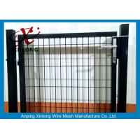 Black Powders Sparyed Coating Welded Wire Fence Gate With Square Post