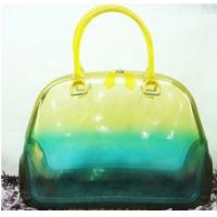 China Bright Color Ladies Jelly Candy Handbag For Spring Autumn Weekend Transparent Tote on sale