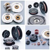 Customized Various Models Plastic Cable Pulley With Bearing , Low Friction Coefficient Manufactures