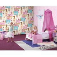 China Fancy Interior Kids Bedroom Wallpaper Animals Design Non Woven Paper Material on sale