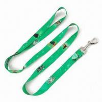 China Long Dog Leash, Made of Polyester Material, Heat-transfer Logo Printing on sale