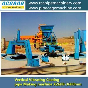 Full-automatic Vertical Vibration Concrete pipe Making machine,Dia300-600 Manufactures