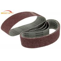75x533mm Abrasive Metal Sanding Belts Aluiminum Oxide For Hard Wood P 40 - P 600 Manufactures