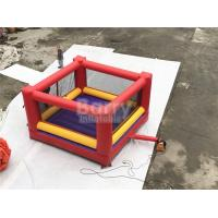 Ultimate Red And Yellow Kids / Adults Inflatable Sports Games Giant Bouncy Boxing With Gloves Manufactures