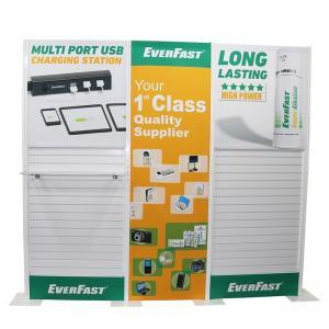 Plastic Slatwall Custom Tradeshow Booth With Fabric Panel Lighting Storage Manufactures
