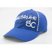 Blue 3D Embroidered Printed Baseball Caps Cotton Twill With Custom Logo Manufactures