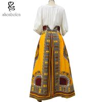 Cotton Printed A Line Style African Print Skirts Designs Batik Fabric Fashion Manufactures