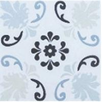 China Square Patterned Floor Tiles , Fresh Style Patterned Kitchen Tiles Fine Raw Material on sale