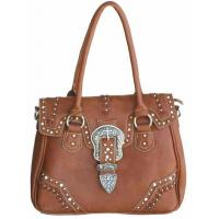 China lady fashion Bling tote western 3-set buckles crystal handbags factory on sale