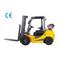 China Dual Fuel Four Wheel Forklift 3000kg Capacity With Engine Protection Lock on sale