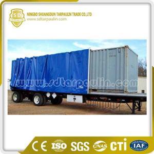 China Heavy Duty Waterproof PVC Tarpaulin Trailer Cover Tarp on sale
