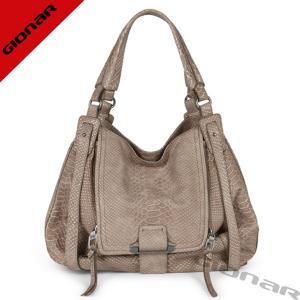 Elegant Embossed Hobo Leather Handbags / Softer Snake Leather Ladies Shoulder Bags Manufactures