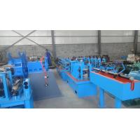 China Automatic Downspout Steel Square Pipe Making Machine 100 x 100 mm on sale