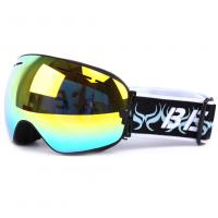 Otg Design Uv Protection Mirrored Snow Goggles With Spherical Detachable Lens Manufactures