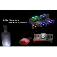 Promotion Bar Ware Blinking Light Up Products Plastic Bottle Led Light Coasters Manufactures