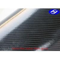 Black Kevlar Polyurethane Upholstery Fabric Coated With Glossy TPU Dual Sides Manufactures