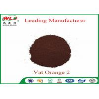 C I Vat Orange 2 Vat Golden Orange 2RT Dye Powder For Cotton Fabric Manufactures