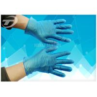 China Disposable Vinyl Exam Gloves White Blue Light Powder Free Exam CE Certifiacted on sale