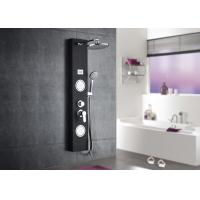 Black Tempered Glass Waterfall Shower Panel , ROVATE Massage Shower Panel Manufactures