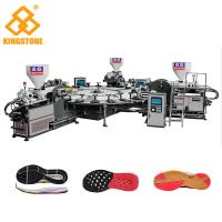 High Production Rotary PVC/ TPR Shoe Sole Making Machine One / Two / Three Colors Manufactures