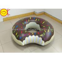 China Gigantic Brown 120cm Inflatable Water Floats Chocolate Pink Donut Shaped wholesale