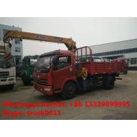 hot sale cheapest price dongfeng 2.5tons telescopic boom mounted on dump truck, factory dongfeng dump truck with crane Manufactures