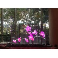 Slim Translucent Led Display , P7.8mm Transparent Led Curtain Screen For Advertising Manufactures
