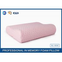 China High Elastic Pink Memory Foam Contour Pillow With Cooling Gel , Anti-Bacterial on sale
