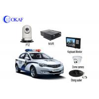 4G Police Car IR Auto Tracking PTZ Camera / Security Camera With Powerful Magnet Mount Manufactures