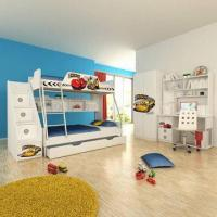 E0 Grade Kids' Bunk Bed, Furniture, Home Product, Ladder Chest, Disney, Car Manufactures