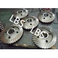 High Pressure Double Helical Gear Electric Water Pump Gearbox Parts Big Spiral Bevel Steel Material Manufactures