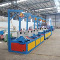 Automatic Pulley Type green and blue color length 1750mm Low Carbon Steel Wire Drawing Machine Manufactures