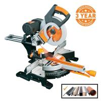 China Evolution Power Tools 15 Amp 10 in. Multi-Material Double Bevel Sliding Miter Saw on sale
