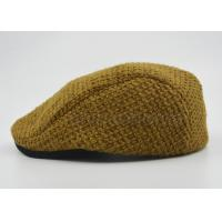 Quality Customized Ladies / Women Peaked Duckbill Hat Ginger With Cotton Lining 56 cm for sale