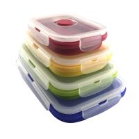 China high quality household items silicone collapsible lunch box food organizer lunch container on sale
